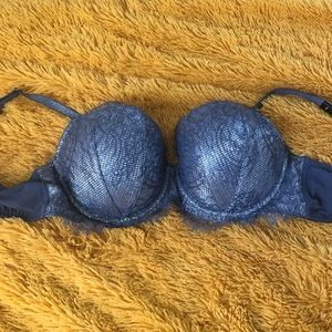 Victoria Secret Silver Lace Bra